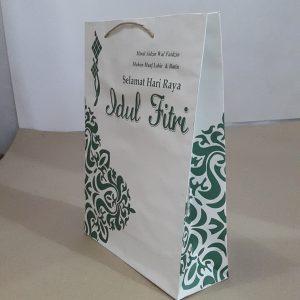 Tas Kertas Idul Fitri Putih Besar